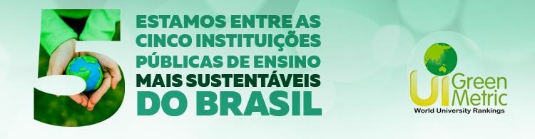 IFSULDEMINAS é uma das cinco instituições de ensino públicas mais sustentáveis do Brasil